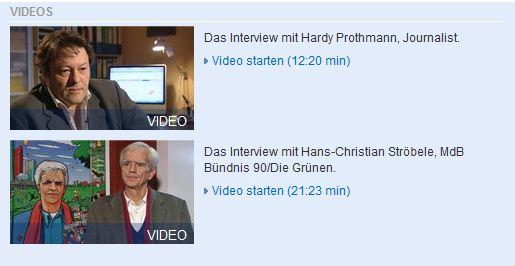 Das Medienmagazin Zapp hat den Journalisten Hardy Prothmann und MdB Hans-Christian Ströbele interviewt. Quelle: NDR